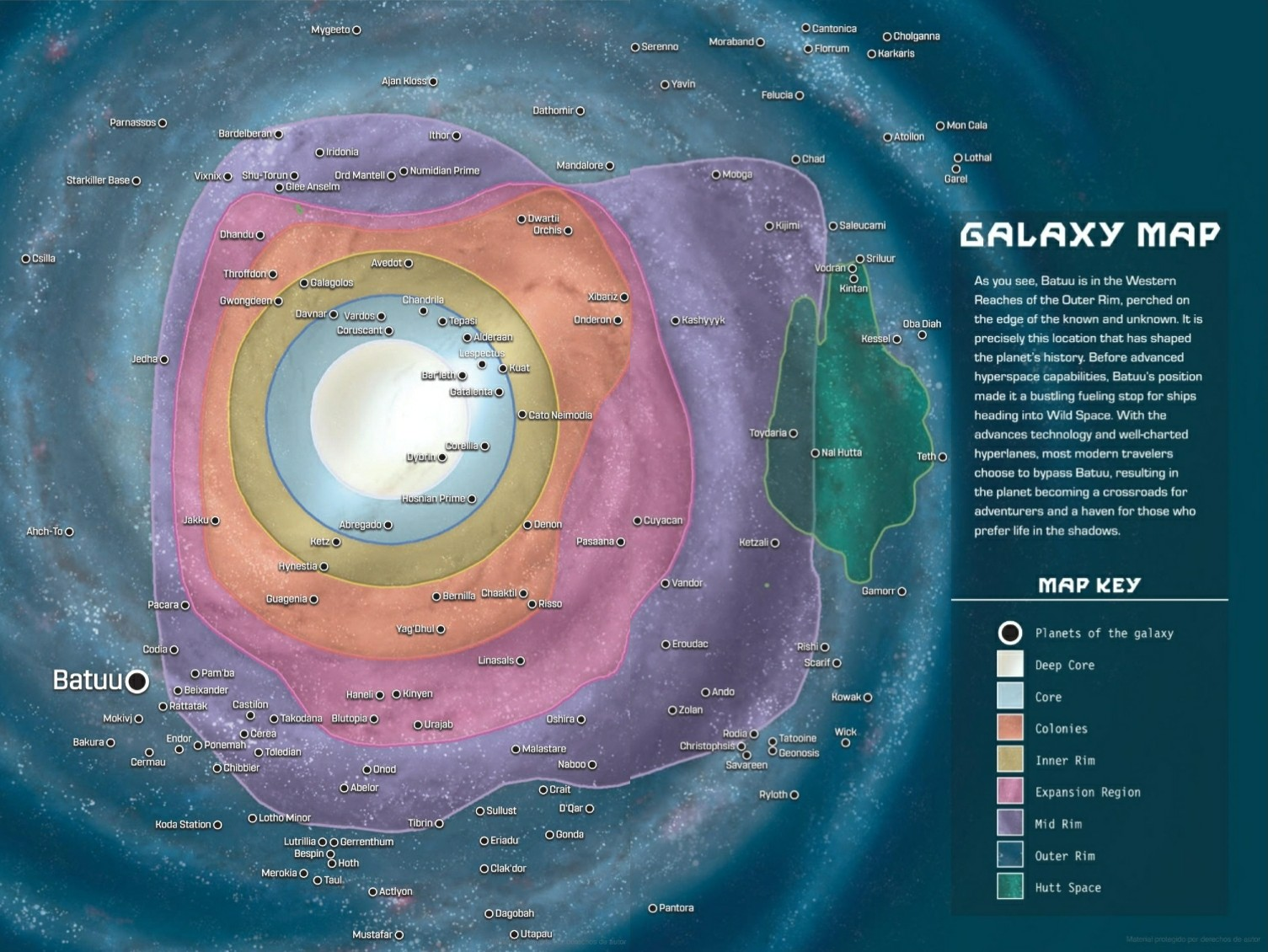 Disney - Star Wars - Galaxy map